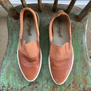 Free People Leather Off Duty Slip On Sneakers